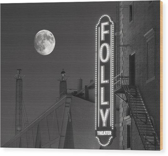 Folly Theatre Kansas City Wood Print