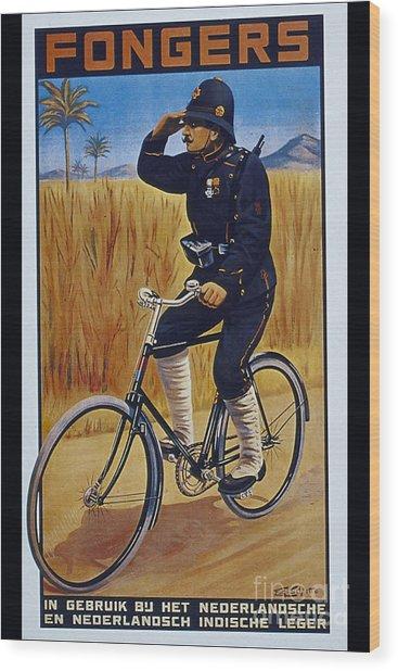 Fongers In Gebruik Bil Nederlandsche En Nederlndsch Indische Leger Vintage Cycle Poster Wood Print