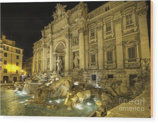 Fontana Di Trevi 1.0 Wood Print