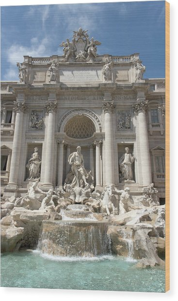 Fontana Di Trevi In Rome I Wood Print