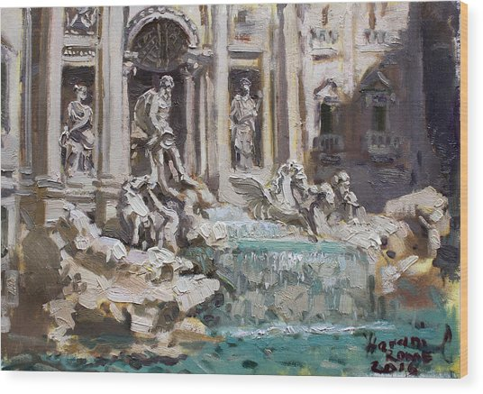 Fontana Di Trevi Rome Wood Print