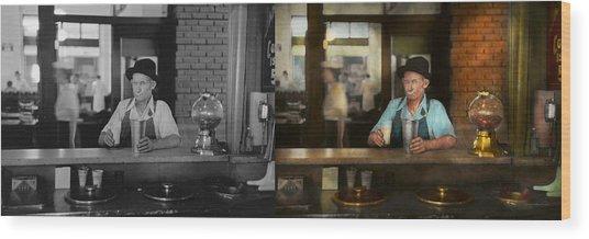 Food - Sweet - Malt Milk Mustache 1939 - Side By Side Wood Print