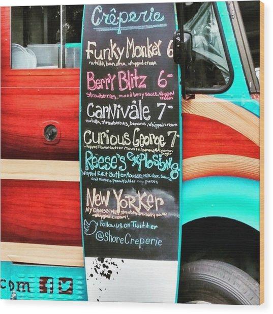 Funky Monkey Food Truck Wood Print
