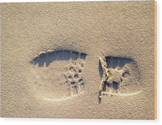 Foot Print Wood Print