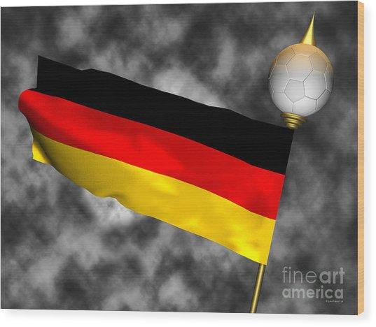Football World Cup Cheer Series - Germany Wood Print by Ganesh Barad