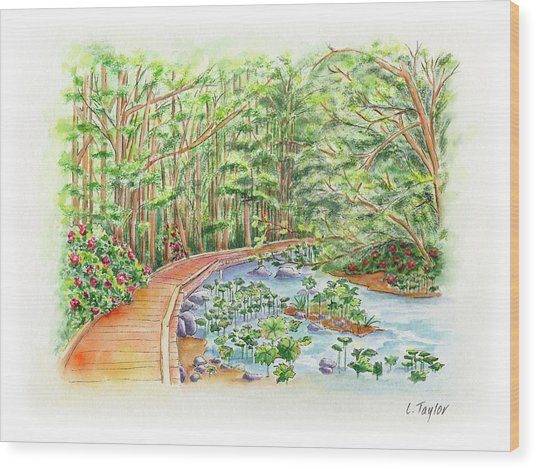 Footbridge Wood Print
