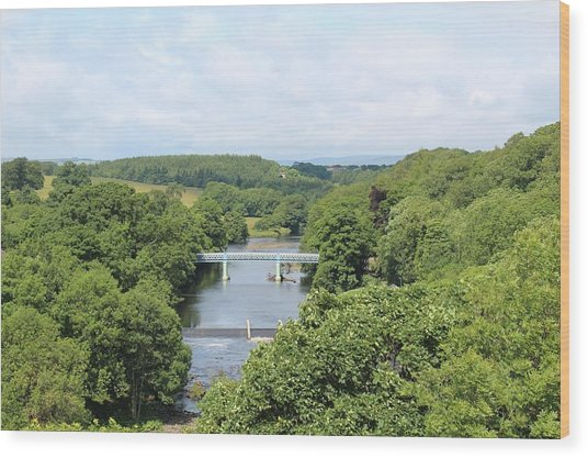 Footbridge Over The River Tees Wood Print