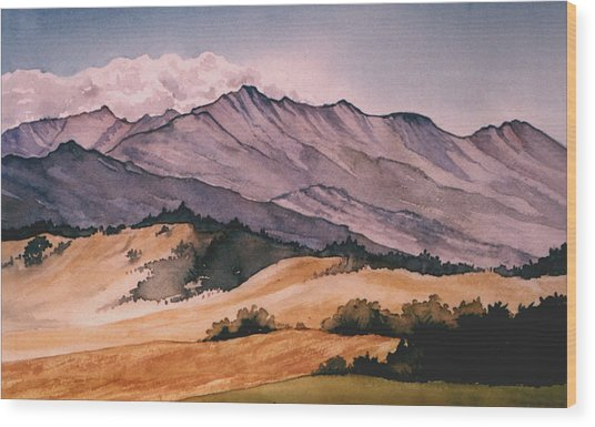 Foothills Wood Print