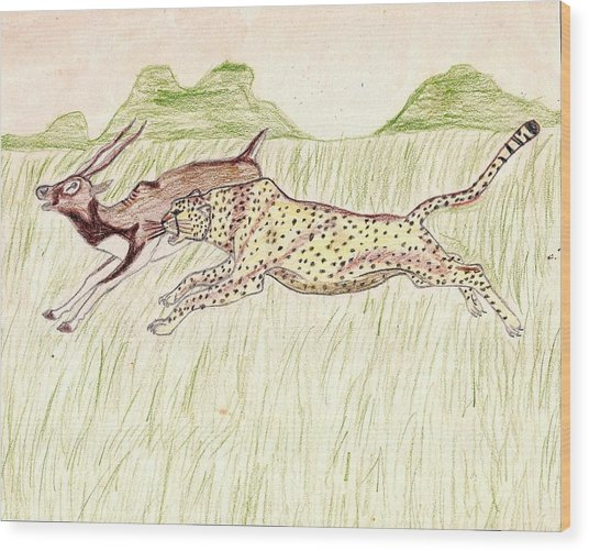 Footrace Wood Print