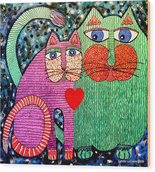 For All The Cats I Wood Print by Cynda LuClaire