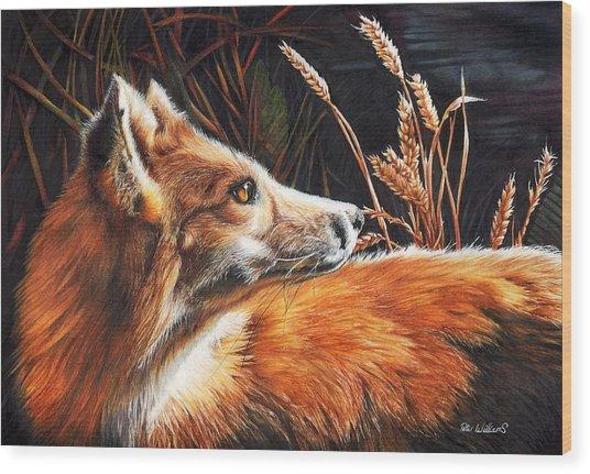 For Fox Sake Wood Print