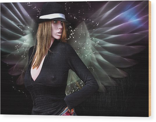 For The Demon Lurked Under The Angel In Me .... Wood Print by Bob Kramer