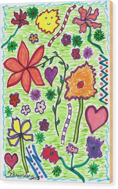 For The Love Of Flowers Wood Print