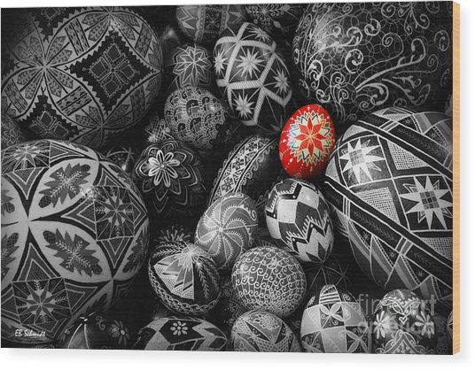 For The Love Of Pysanky Wood Print