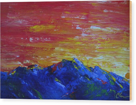 For Them The Sun Rises Wood Print by Cheryl Ehlers