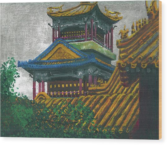 Forbidden City Wood Print