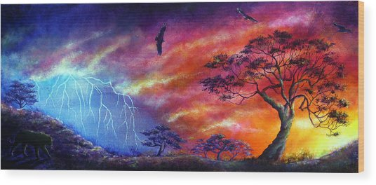 Force Of Nature Wood Print by Ann Marie Bone
