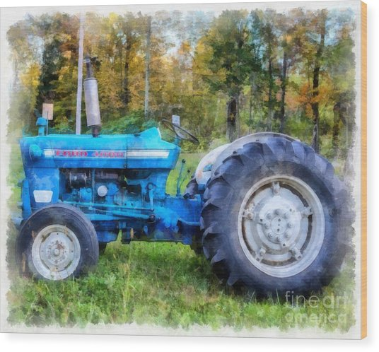 Ford 4000 Vintage Tractor Wood Print