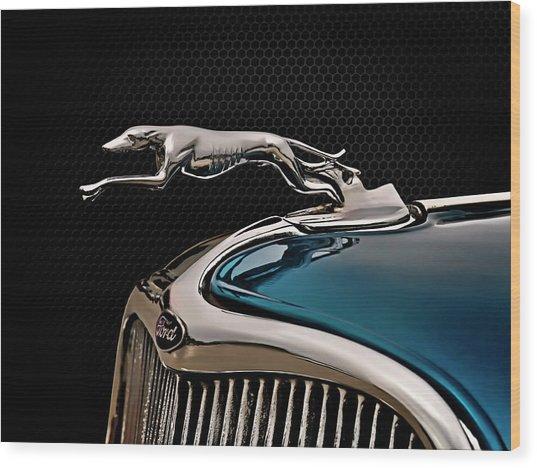 Ford Blue Dog Wood Print