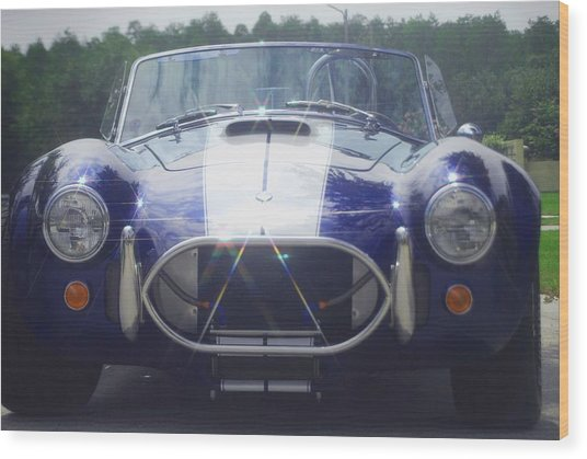 Ford Cobra Wood Print by Margaret Fortunato