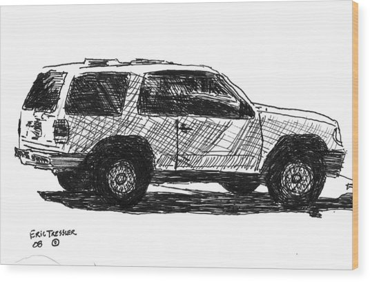 Ford Explorer Wood Print