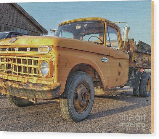 Ford F-150 Dump Truck Wood Print