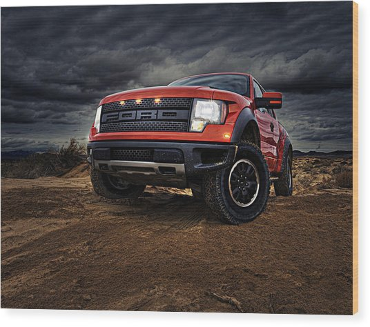 Ford F 150 Raptor  Wood Print
