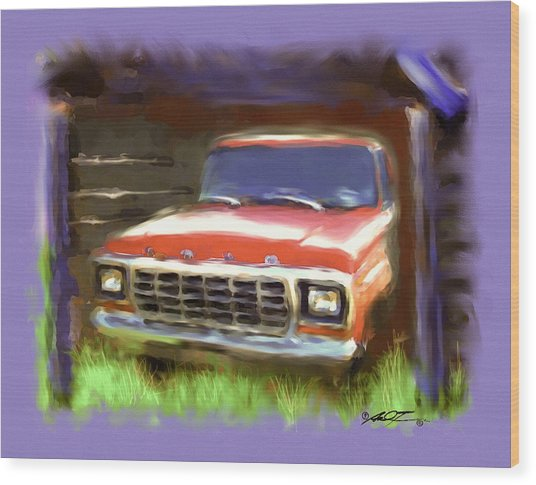 Ford F150 Wood Print