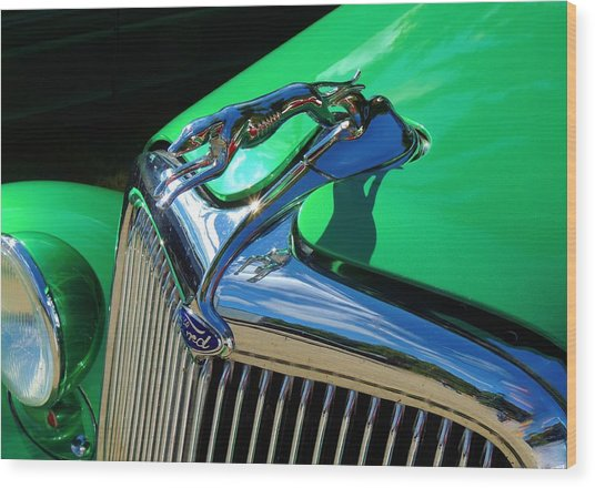 Ford Greyhound Hood Ornament Wood Print