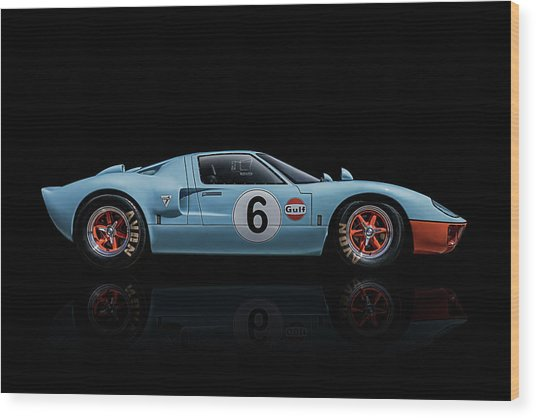 Ford Gt 40 Wood Print