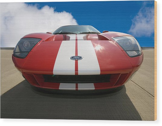 Ford Gt Wood Print by Peter Tellone
