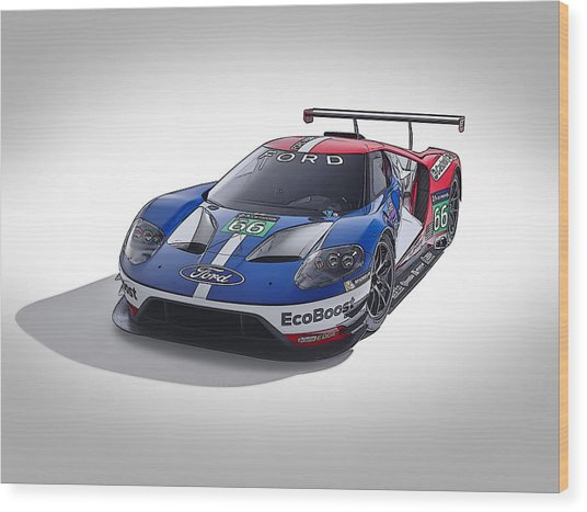 Ford Gt Wood Print