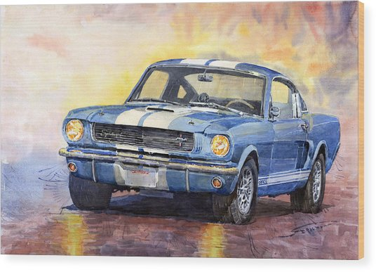 Ford Mustang Gt 350 1966 Wood Print