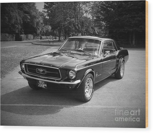 Ford Mustang Wood Print