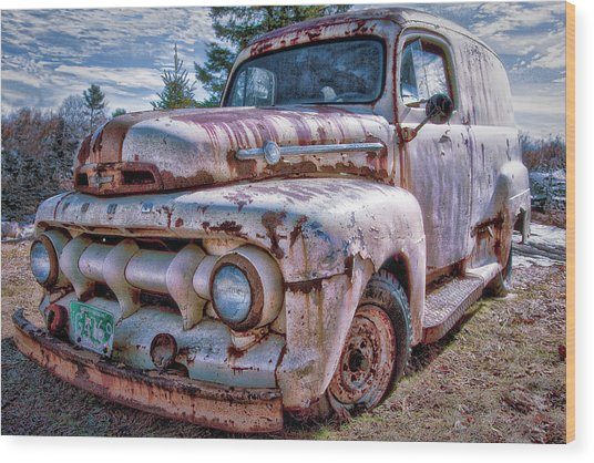 Ford Panel Truck Wood Print