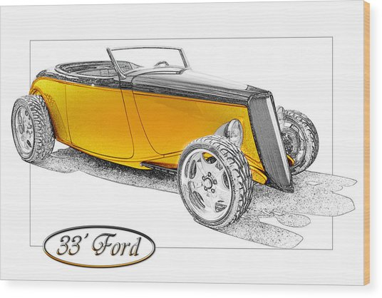 Ford Roadster Wood Print by Michael Gass