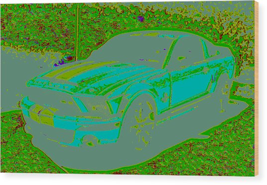 Ford Shelby D4 Wood Print by Modified Image