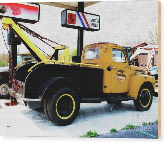Ford Wrecker  Wood Print by Steven Digman