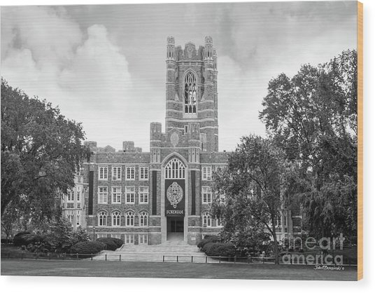 Fordham University Keating Hall Wood Print