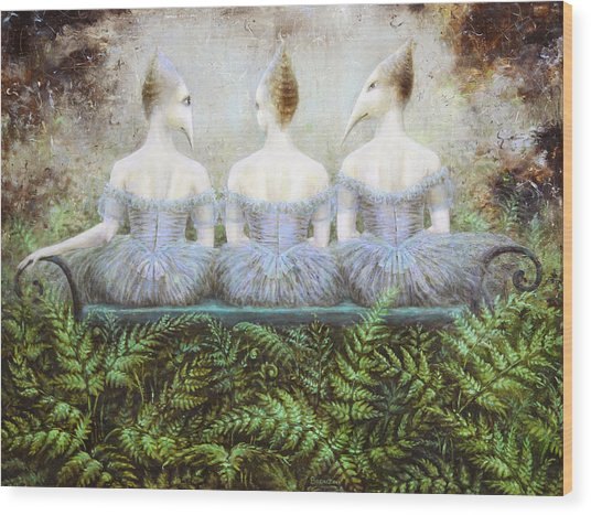 Forest Divas Wood Print by Lolita Bronzini