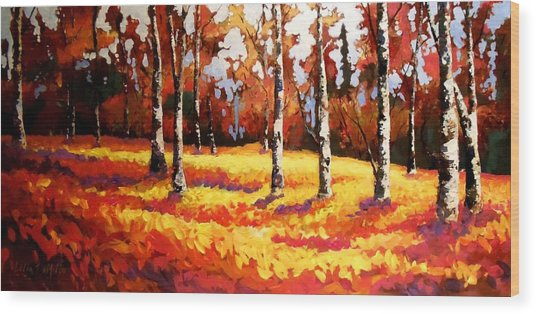 Forest Edge Wood Print