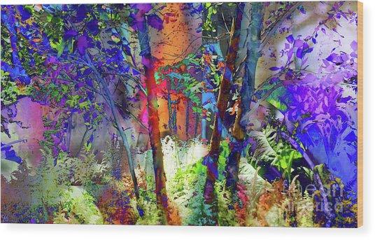 Forest Light Wood Print