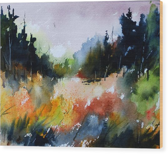 Forest Meadow Wood Print