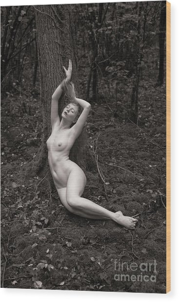 Forest Nude Wood Print