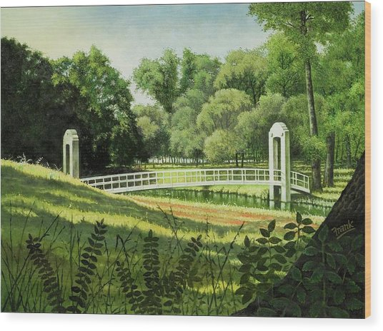 Forest Park Footbridge Wood Print