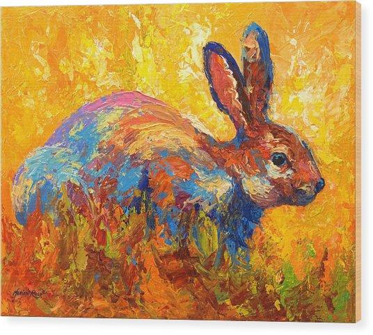 Forest Rabbit II Wood Print