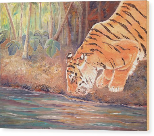 Forest Tiger Wood Print