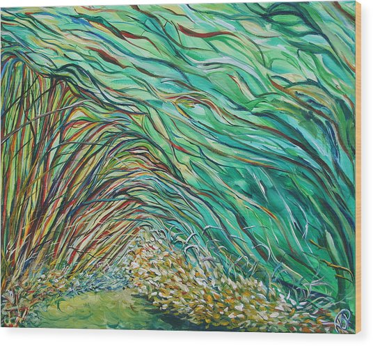 Forest Under The Sea Wood Print