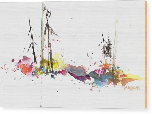 Forest Whimsey Wood Print