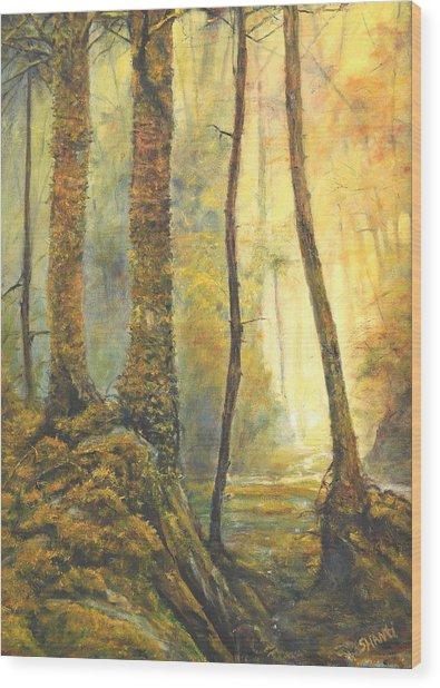 Forest Wonderment Wood Print by Craig shanti Mackinnon